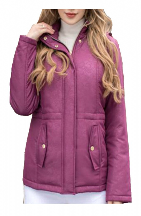 Womens ❤️Plus❤️ Purple Quilted Jacket db545